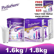 [FREE 600G WITH BUY 3 x 1.6KG/1.8KG] PEDIASURE - Vanilla ★MADE IN SINGAPORE FOR MALAYSIA★