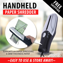Amazing Handheld Paper Shredder / 0.3mm thickness paper / support a4 paper shredding / stationery