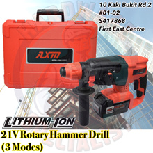 Hardware Specialist 21V Cordless Rotary Hammer Drill [Lithium Battery] [4.0ah]