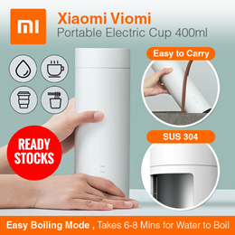 Flask *Ready Stocks*Xiaomi Viomi Electric Cup Portable 400ml Bottle 304 Stainless Steel Cup for