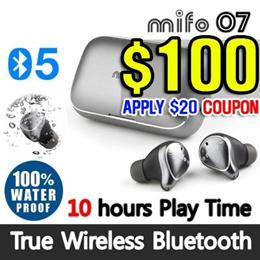 [mifo] 10Hours Play Time / O7 Bluetooth 5.0 True Wireless Bluetooth Earbuds  /IPX7 Waterproof