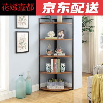 Qoo10 Corner Bookshelf Small Bookshelf Iron Bedroom Bookshelf Corner Living Furniture Deco