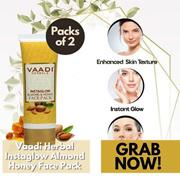 Vaadi Herbals Value Pack of 2 Instaglow Almond Honey Face Pack