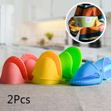 2 Pcs Silicone Oven Mitt Pot Holder Glove Grip Pinch Grip Heat Resistant Kitchen Tool