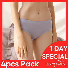 Young Hearts x Young Curve Panties Set - 4 PIECES IN 1 PACK