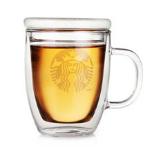 STARBUCKS DOUBLE WALL BODUM MUG WITH GLASS CAP / THERMAL FLASK / WATER BOTTLE! 2016 LATEST DESIGN! CHEAP AND BEST TO BE GIFT. ELEGANT AND NEVER OUTDATED!!! CHRISTMAS!!! BIRTHDAY! FESTIVE SEASON!!