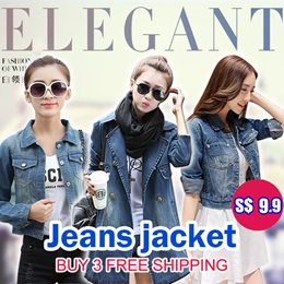 *Sep 3 2018*Lowest Price S$9.9*denim jacket / Cowboy / Women Clothes /Denim jacket / denim