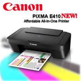 Canon PIXMA E410 NEW!   Affordable All-In-One Printer