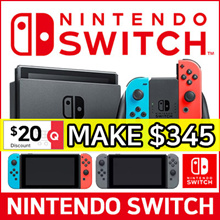 1 Year Warranty!! NINTENDO SWITCH CONSOLE SYSTEM BULDLE ★ NEON / GREY Joy-Con ★