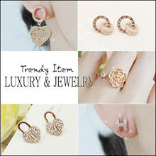 [Laurenco] 💕 Aug New update!! 💕 Trendy Luxurious Korean Style Earrings / Ring / Bracelet
