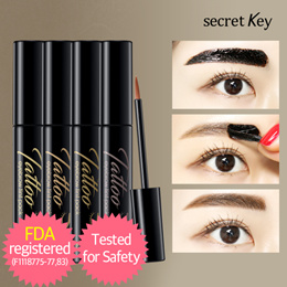 【Secret Key HQ Direct Operation】 Tatto eyebrow tint pack 8g 4 colors / Super Long Lasting!