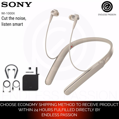 8e2f724e1d7 Sony WI-1000X Premium Noise Cancelling Wireless Behind-Neck In Ear  Headphones - Black