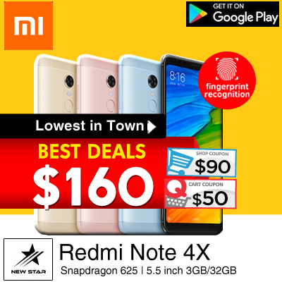 [$160 Nett 32GB] Flagship Redmi Note 4X Snapdragon 625 | 5.5 inch 3GB/32GB Dual SIM. Best Deal Deals for only S$399 instead of S$0