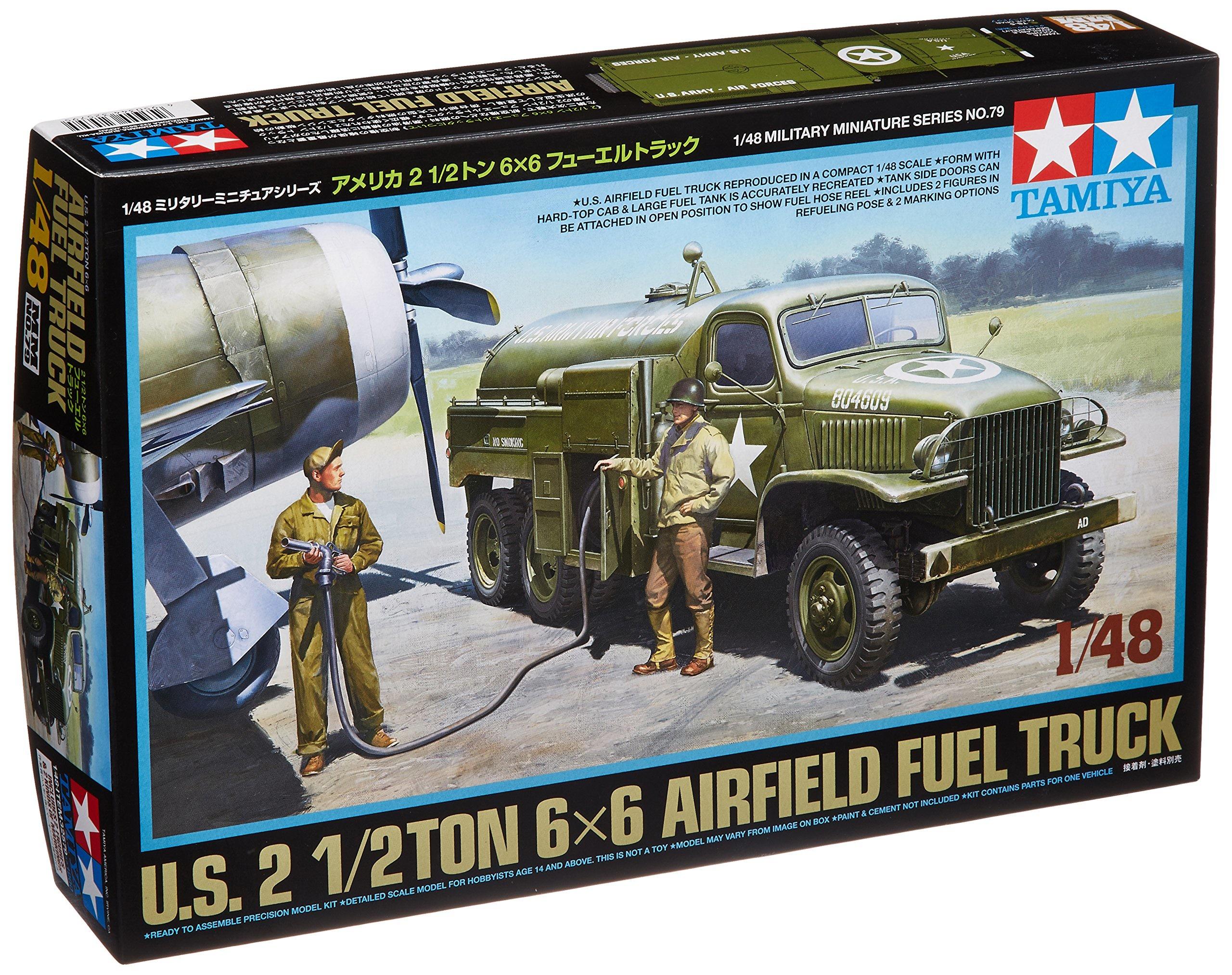 Tamiya 1/48 Military Miniature Series No  79 US Army 1/2 ton 6 × 6 Fuel  Truck Plastic Model 32579