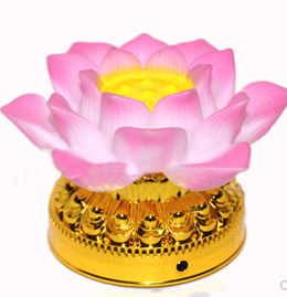 Buddhist supplies pink small lotus lamp wholesale colorful LED lotus lamp prayer lamp preferred