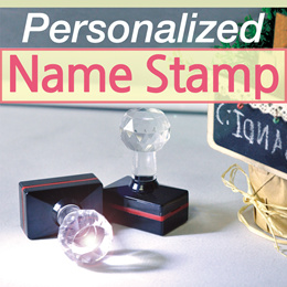 Crystal Stamp / Personalized Pre-inked stamp / clothing stamp