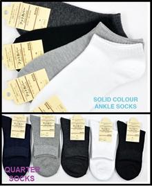 ★BEST SALE★ UNISEX Women/ Mens Socks - Business / Work / Quarter / Ankle / Cotton / Comfortable