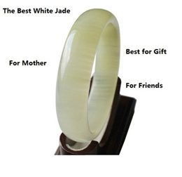 The White Jade/Best gift for mother day/on sale now天然玉石手镯金丝玉冰丝玉手镯子