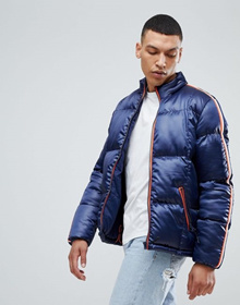 963ce507f2a Bellfield Puffer Jacket With Sleeve Tape