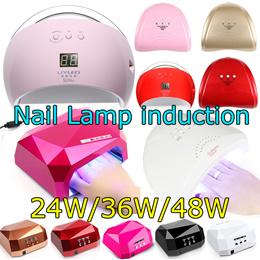 48W Lamp LED Nail Lamp Nail Dryer Diamond Shaped induction Nail Tools for UV Gel Nail Polish Art Too