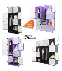 【Free Shipping】LivingCabinet Cubes Dark Veins DIY Cabinet Wardrobe