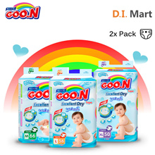 【Shocking Deal!】Goo.N Premium Tape Super Jumbo [ M66/ L56/ XL50 ] x2 Pack