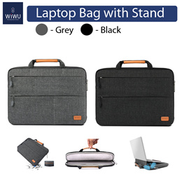 WIWU Laptop Bag For 13 inch 15 inch Macbook air / pro / Laptops with Magnetic Stand Waterproof Nylon