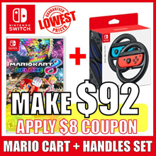[Nintendo Switch] Nintendo Switch MARIO CART  DELUXE 8 + CART HANDLES SET