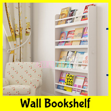 ★FREE DELIVERY★Wall Mounted White Wood Bookshelf★Hanging Display Rack★Children Room Decoration