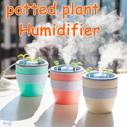 2017 Action DIY Potted Plant Humidifier Aroma Diffuser Essential oil diffuser Mist Maker Fogger Haze