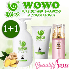[1 + 1] ♥ LOWEST PRICE ON QOO10! ♥ WOWO PURE GINGER SHAMPOO ♥ ANTI HAIR LOSS ♥ AUTHENTIC