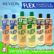 Revlon FLEX Protein Gentle Hair Shampoo / Hair Conditioner 591ml - 6 Types (Made In USA)