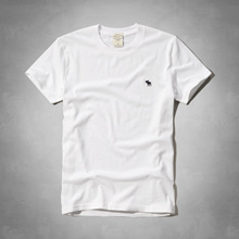 Abercrombie Mans Crew T-shirts_White Color/124-236-0897-001