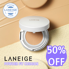 [ 50% OFF! ] LANEIGE Powder Fit Cushion SPF50+ PA+++ *5 Shades* 10g