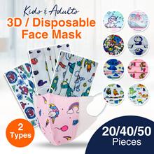 ⏰⚡Flash Sales★Baby Toddler Kids Face Mask★Cartoon Design★Surgical Mask★3D Mask ★Children Adult Mask