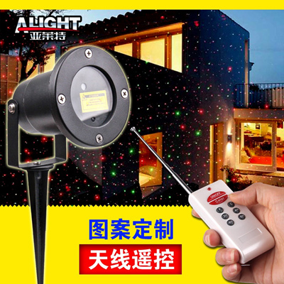 Outdoor waterproof lawn laser light Antenna remote control Insert Christmas  garden landscape lights