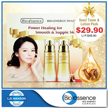 [BIO ESSENCE] Snail Toner + Lotion Pack RSP: $49.90!!