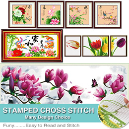 Needlework Embroidery Kit  Stamped Cross Stitch Kit  Kids Cross Stitch Kit Flower Cross Stitch Kit  Animals Cross Stitch Kit  Landscape Cross Stitch Kit