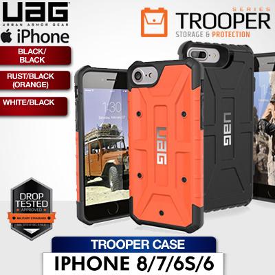 new style 299b1 699ce UAG iPhone 8/7/6S/6 4.7 Trooper Case Black/Black / Rust/Black (Orange) /  White/Black