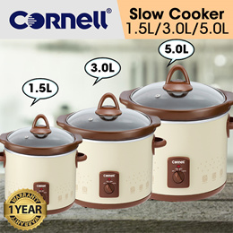 Cornell CSC150/350/500  Electric Slow Cooker Auto Cooking Function Ceramic Pot