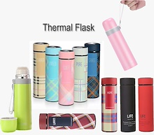 ★Thermal Flask Cup Vacuum Thermos Bottle Bag with Cup Local Seller with Many Design ★