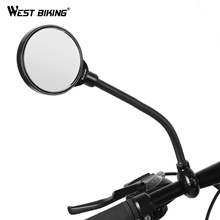 WEST BIKING 1Pcs Bike Mirror Handlebar Rearview Mirror Bicycle Accessories Aluminum Alloy Mountain R