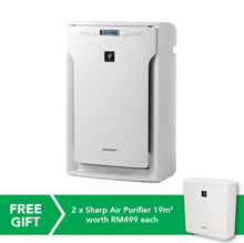 [RM1,369.00 After Coupon Applied] Sharp Air Purifier with High Density Plasmacluster 62m2 SHP-FUA80EW - *ORIGINAL PACKAGING/SEALED*MY Warranty/Malaysia