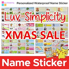 Christmas Gift / XMAS SALE / Personalized Waterproof Name Sticker / Christmas Day Gift