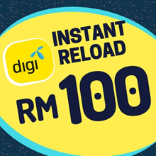 Digi instant Top UP RM100 [Each mobile number can only top up once per day after 24 Hours]