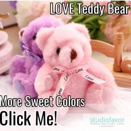 Cute Teddy (Love) Bear Soft Toy/ Wedding Favor Gift/ Door Gift/ Children Party/ Baby Shower/ Events