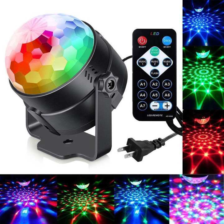 LED Disco Ball Party Lights Ripple Light Sound Activated DJ Lights For  Parties 7Colors Water Wave Oc