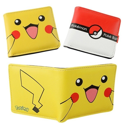 UK SELLER Pokemon Go Pikachu Girls Cute Coin Purse 2 Compartments Wallet Pouch
