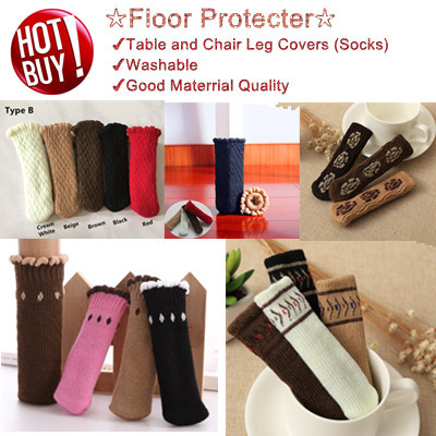 ♕4pcs/pack Socks for Chairs Stools Table Cover ✩Floor Protector✩Washable✩Local Seller♕
