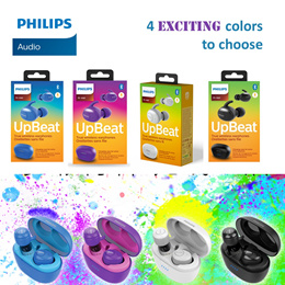 {NEW MODEL} Philips Upbeat True Wireless Earphones SHB2505 in Black or Blue - Supports Apple/Android